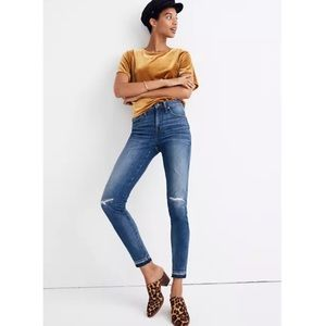 """Madewell 9"""" Mid-Rise Skinny Jeans in York Wash"""